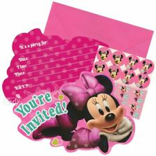 Disney Minnie Mouse Pink Birthday Party Invitations Invitation Cards Supplies
