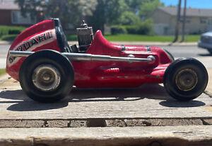 Vintage Roy Cox Thimble Drome Champion Red  Tether Car  BARHDAL