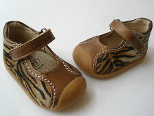 GORGEOUS CRIOS CALF HAIR LEATHER BABY BOOTIES SIZE 18 RARE MADE IN SPAIN