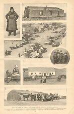 Eureka South Dakota, German - Russian Colony, Vintage 1896 Antique Print