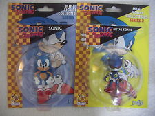SONIC THE HEDGEHOG SONIC et métal Sonic 2 mini figure collectibles F4F 2,5 ""