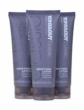 3x TONI&GUY Classic Smoothing Lotion Conditioning Sleek Hold 100ml