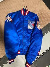 Vintage 1980's New York Rangers Satin Jacket by Starter Size M Nhl