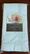 NEW Cynthia Rowley Mint Green Silver Dinner Napkins 100% Cotton Set of 4