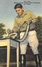Miami FL Ross Allen Diamond-Back Rattlesnake Venom Curt Teich Postcard