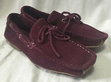 Banana Republic Suede Drivers Loafers Women's 7.5M Deck Boat Shoes Wine Plum
