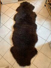 IN Mint Condition fur Runner Carpet Real Lambskin Sheepskin Rug