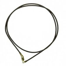 1mm Leather Necklace Cord With 925 STS Lobster Clasp Black 16 Inch (D90/8)