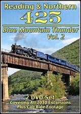 READING & NORTHERN 425 BLUE MOUNTAIN THUNDER VOL 2 DVD VIDEO STEAM TRAIN VIDEOS