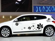 Car Flowers Sports Door Decals for Scirocco Vinyl  Side stickers #1013