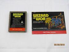 Wizard of Wor (Atari 2600, 1982) CBS Video Games (Cartridge & Manual Only) NTSC
