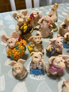 20x Various Piggin' David Corbridge Figurines Collectible World Studios Listed