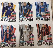 Topps Champions League 2020-21 Match Attax. 6 Card Napoli Juventus Inter Milan
