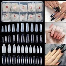 500Pcs Ballerina Stiletto Nails Tips Full Cover False Long Acrylic Gel Nails Art