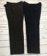 Lauren Ralph Lauren Mens 36 X 30 Corduroy Pants classic fit Blue&Brown Lot Of 2