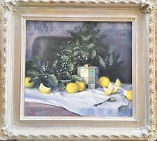 """Timothy C. Tyler original Oil on Canvas Painting """"Lemon Soothers 1989 Listed Art"""