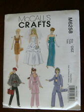 "McCall's Pattern 6258 FASHION CLOTHES FOR 11"" DOLL outfits wardrobe clothing"