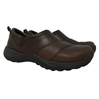 LL Bean Womens Comfort Moccasin Shoes Slip On Brown Leather Style 268707 Size 6M