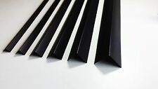 5x BLACK PLASTIC PVC CORNER 90 DEGREE ANGLE TRIM 2.5 METERS VARIOUS SIZES 98.43""