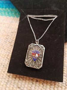 Vintage Camphor Glass Pendant Necklace