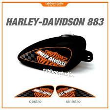 Adesivi serbatoio Harley Davidson 883r 883 Sportster tank stickers non laminati