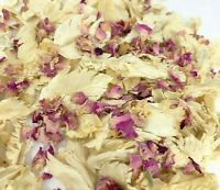50 Guests x Biodegradable Wedding Confetti Pink Ivory Mix Petals Dried Flowers