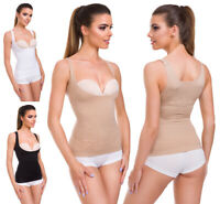 Womens Seamless Body Shaper Top Tummy Slimming Bust Lifter Elastic Corset FG2446