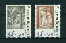 Luxembourg 1974 Gothic Architecture full set of stamps. MNH Sg 931-932