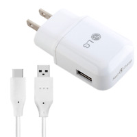 Original LG Fast Charging Wall Charger Type C Cable For LG G5 G6 G7 Stylo 4 V20