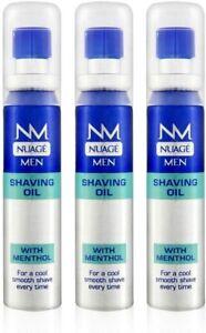 Nuage MEN Shaving Oil Menthol Pre Shave with Pump 20ml - 3 Pack