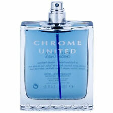 Chrome United By Azzaro 3.3 / 3.4 Oz EDT Spray Brand New Tester Cologne For Men