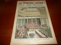 1899 NUOVA AULA MONTECITORIO GIUBILEO PASQUALE VILLARI FERDINANDO LESSEPS