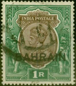 Bahrain 1933 1R Chocolate & Green SG12 Fine Used