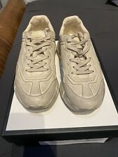 Gucci Rhyton Distressed Leather Men's Sneakers Size 9