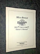 "Mesa/Boogie Single Rectifier Series ""Solo 50/Rect-O-Verb"" Owner's Manual(USED)"