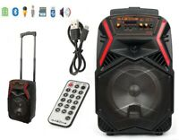 "8"" Portable FM Bluetooth Speaker Subwoofer Heavy Bass Sound Karaoke Party 1000W"