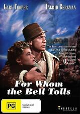 For Whom The Bell Tolls (DVD, 2016) *Gary Cooper , Ingrid Bergman * NEW REGION 4