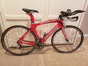 Specialized Transition Pro Triathlon TT Full Carbon Fiber Bike M Medium Sram Red