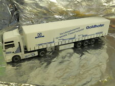 ** Herpa 148092 MAN TGA XXL Curtain Tarp Semitrailer Goldhofer 1:87 Scale