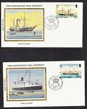 Isle of Man 1982 Mail Contracts set 2 SILK First Day Covers