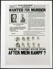 AFTER MEIN KAMPF MY CRIMES 1940 FILM MOVIE POSTER PAGE . ADOLF HITLER . 431