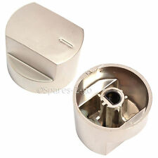 2 x Genuine STOVES NewHome Oven Cooker Hob Knob Switch Knobs Silver / Aluminium