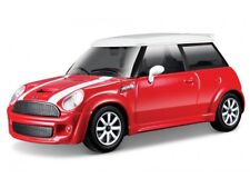 BURAGO 30257R 1:43 MINI COOPER S RED / WHITE DIECAST TOY MODEL CAR BNIB