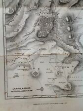 Antique map of land of Moriah-ancien testament histoire circa 1845