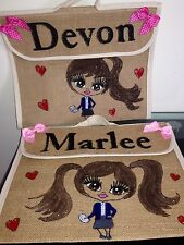 PERSONALISED  SCHOOL BOOK BAGS Music Guitar ANY NAME ANY UNIFORM AND STYLE GIFT