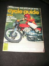 CYCLE GUIDE magazine June 1978Laverda 500 Zeta Yamaha YZ250E Daytona race & tech