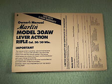 Marlin 30/30 cal. Model 30 AW OWNERS MANUAL date 4/94   ten pages of information
