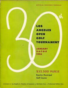 30th Annual Los Angeles Open Golf Tournament Program-1/1956-PGA-Littler-VG
