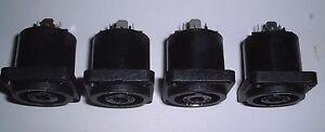 4 off 4 pole speaker  panel connector  UK Seller