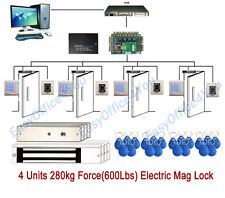 4 Doors Electronic door access control system for Church/Office/Factory Security